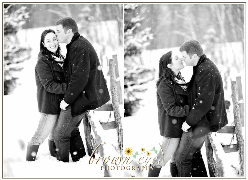 Winter Engagement Shoot in the Adirondacks