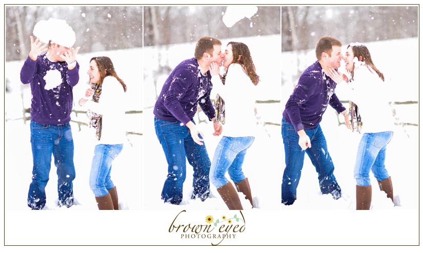 snowball kiss engagement