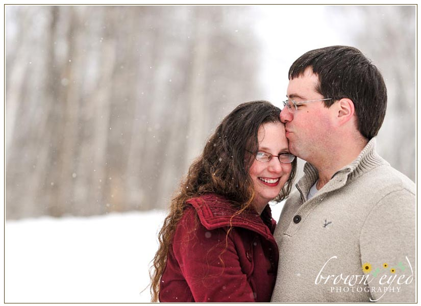 snowy adirondack engagement photography