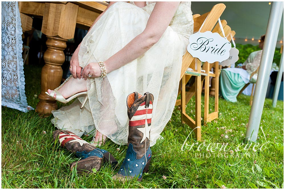 Taylor Rental Plattsburgh Wedding boots Photo