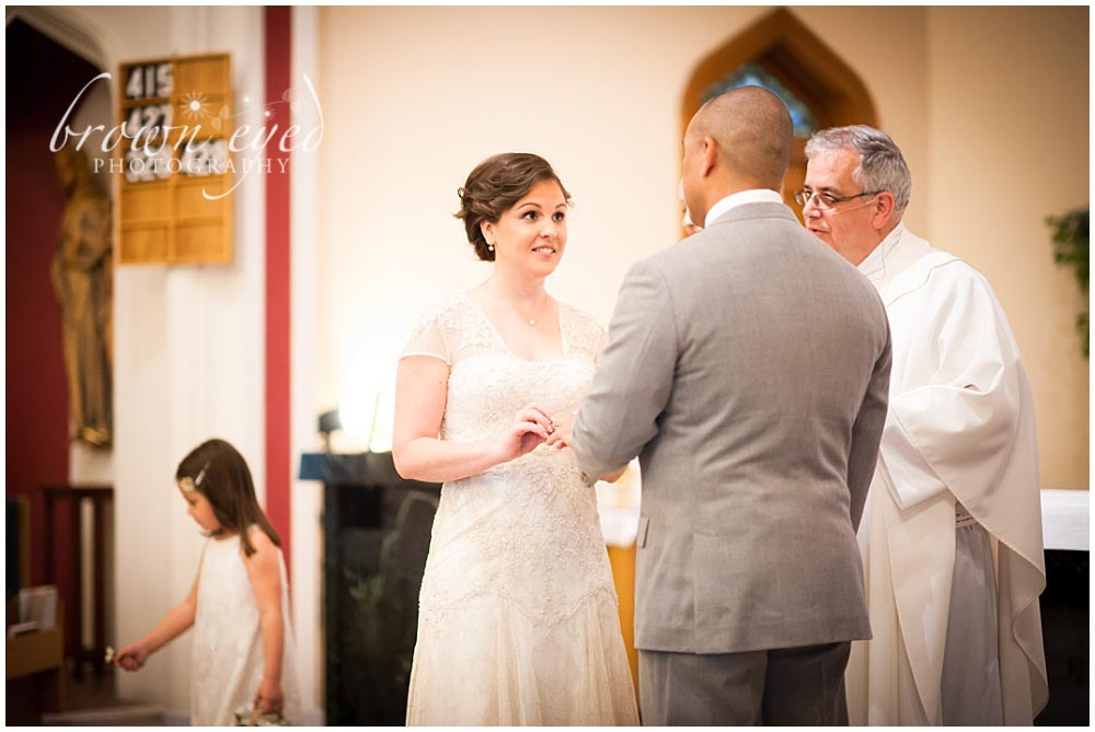 Holy Name Church exchanging rings Photo