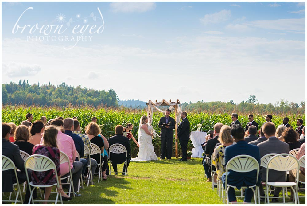 cornfield wedding in gabriels ny