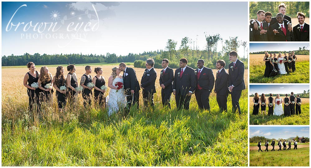 wedding party at tucker farms in gabriels NY